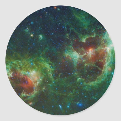 Heart and Soul Nebulae Classic Round Sticker