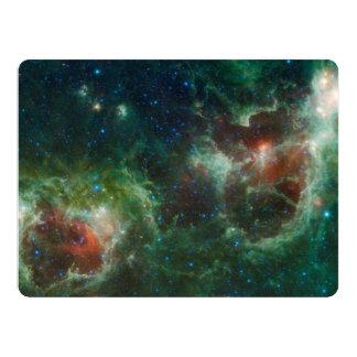 Heart and Soul nebulae infrared mosaic NASA Card