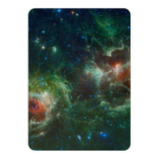 Heart and Soul nebulae infrared mosaic NASA Card
