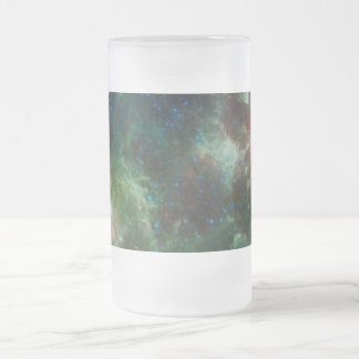 Heart and Soul nebulae infrared mosaic NASA Frosted Glass Beer Mug