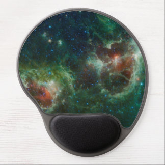 Heart and Soul nebulae infrared mosaic NASA Gel Mouse Pad