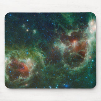 Heart and Soul nebulae infrared mosaic NASA Mouse Pad