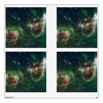 Heart and Soul nebulae infrared mosaic NASA Wall Graphic
