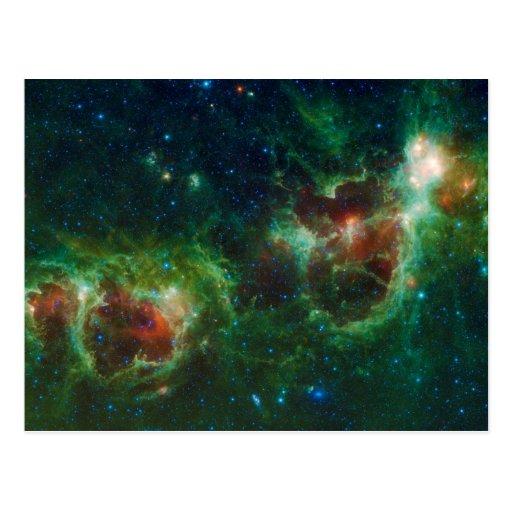 Heart and Soul Nebulae Postcard