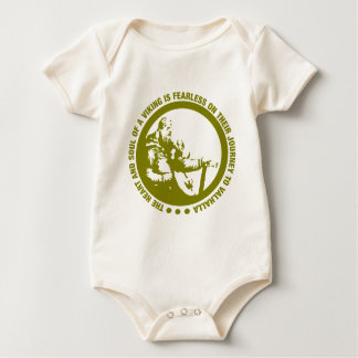 Heart And Soul Of A Viking Is Fearless - Valhalla Baby Bodysuit