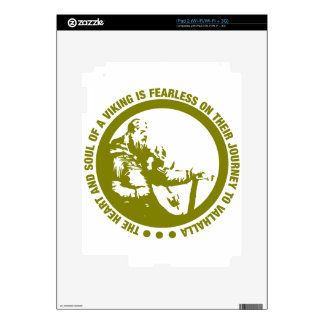 Heart And Soul Of A Viking Is Fearless - Valhalla iPad 2 Decals