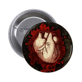 Heart and Spatter Pinback Button