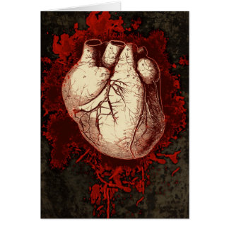 Heart and Spatter Card