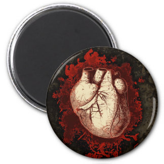 Heart and Spatter Magnet