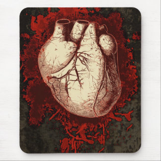 Heart and Spatter Mouse Pad