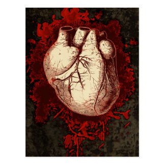 Heart and Spatter Postcard