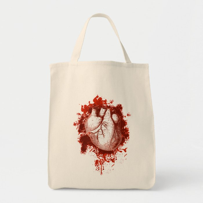Heart and Spatter Tote Bag