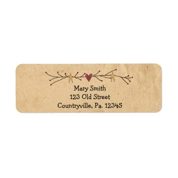 Valentines Themed Heart And Stars Address Label