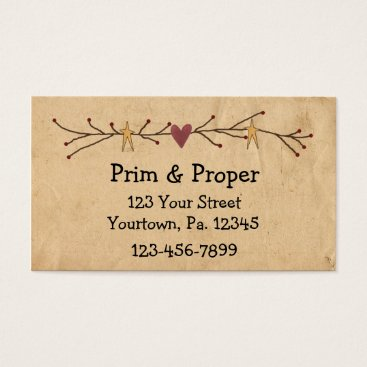 Professional Business Heart And Stars Business Card