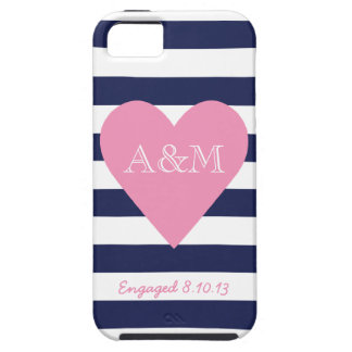 Heart and Stripes Engaged iPhone 5 Cover