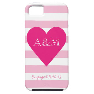 Heart and Stripes Engaged iPhone 5 Covers