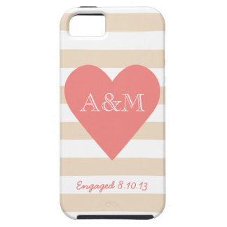Heart and Stripes Engaged iPhone 5/5S Cover