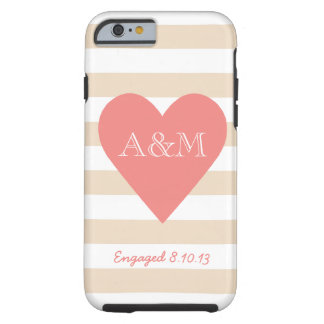 Heart and Stripes Engaged iPhone 6 Case