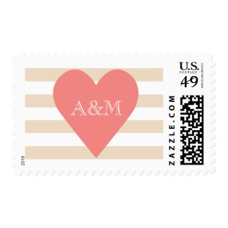 Heart and Stripes Engaged Postage