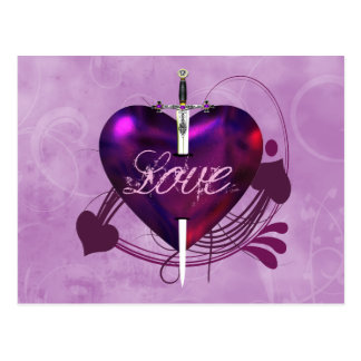 Heart and Sword Postcard