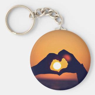 Heart and the Sun Basic Round Button Keychain