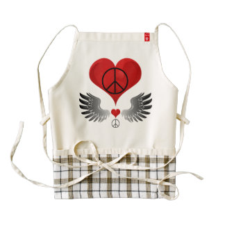 Heart and Wing Zazzle HEART Apron