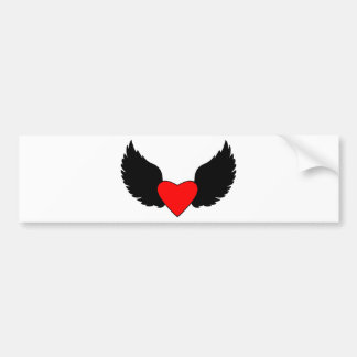 Heart and Wings Bumper Sticker