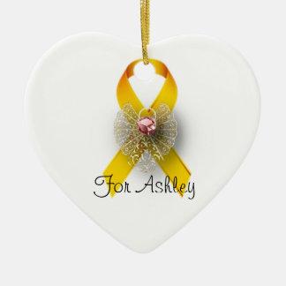 Heart Angel Childhood Cancer Awareness Ornament