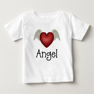 Heart Angel Wings Baby T-Shirt