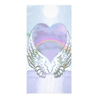 Heart, Angel Wings & Ocean Card