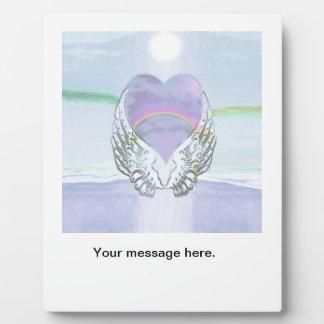 Heart, Angel Wings & Ocean Plaque