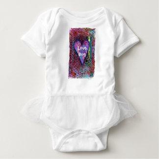 Heart Animal Print Baby Tutu Baby Bodysuit