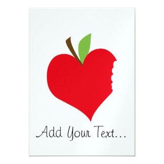 "Heart Apple 5"" X 7"" Invitation Card"