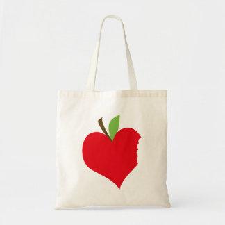 Heart Apple Canvas Bags