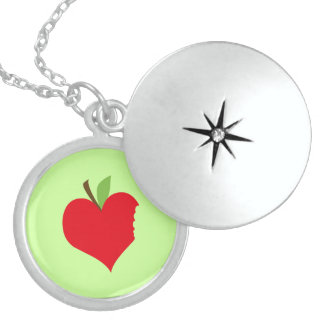 Heart Apple Personalized Necklace