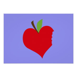Heart Apple Posters