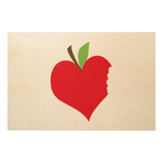Heart Apple Wood Print