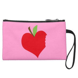 Heart Apple Wristlet Clutch