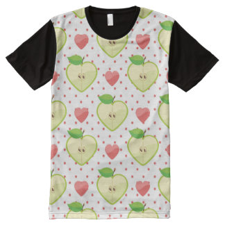 Heart Apples with Pink Polka Dots And Hearts All-Over-Print Shirt