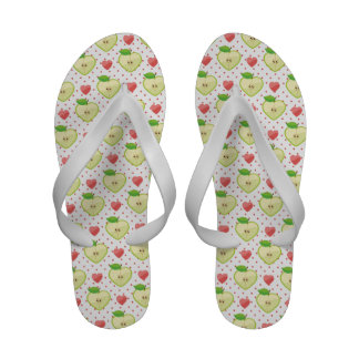 Heart Apples with Pink Polka Dots And Hearts Sandals