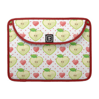 Heart Apples with Pink Polka Dots And Hearts Sleeve For MacBooks