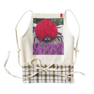 HEART Apron Lady Bug n Purple Flowers
