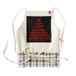 [Skull crossed bones] keep calm and schlemiel, schlimazel, hasenpfeffer incorporated!  HEART Aprons Zazzle HEART Apron