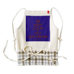 [Crown] keep calm and eat ice-cream  HEART Aprons Zazzle HEART Apron