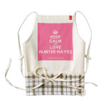 [Crown] keep calm and love hunter hayes  HEART Aprons Zazzle HEART Apron