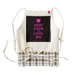 [Love heart] keep calm and love im5  HEART Aprons Zazzle HEART Apron
