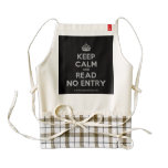 [Crown] keep calm and read no entry  HEART Aprons Zazzle HEART Apron