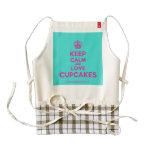 [Cupcake] keep calm and love cupcakes  HEART Aprons Zazzle HEART Apron