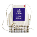 [No Crown] keep calm and love allah  HEART Aprons Zazzle HEART Apron