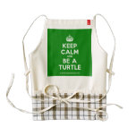 [Crown] keep calm and be a turtle  HEART Aprons Zazzle HEART Apron